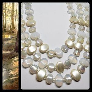 Vintage Antique Opaline Glass Necklace